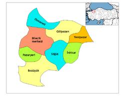 Bilecik districts