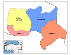 Hakkari districts
