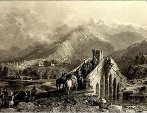 Bursa Abdal köprüsü gravürü