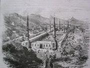 Mescid-i Nebevi'nin 19. yy'daki bir tasviri