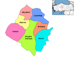 Kırşehir districts
