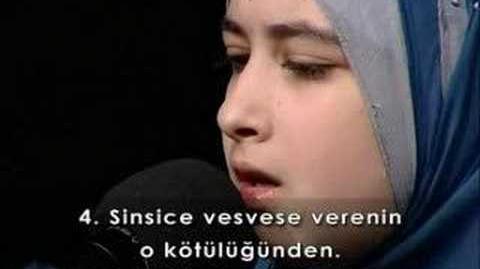 Çocuk hafız sümeyye eldeb -nas suresi www.ashabilyemin