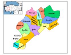 Afyonkarahisar districts