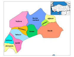 Burdur districts