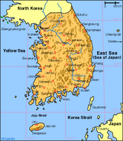 Korea south map