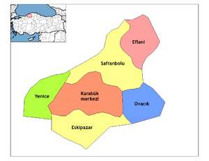Karabük districts