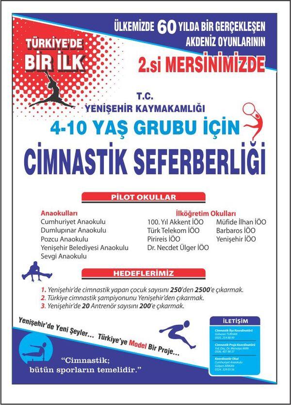 Yenişehir cimnastik akdeniz oyunları.1