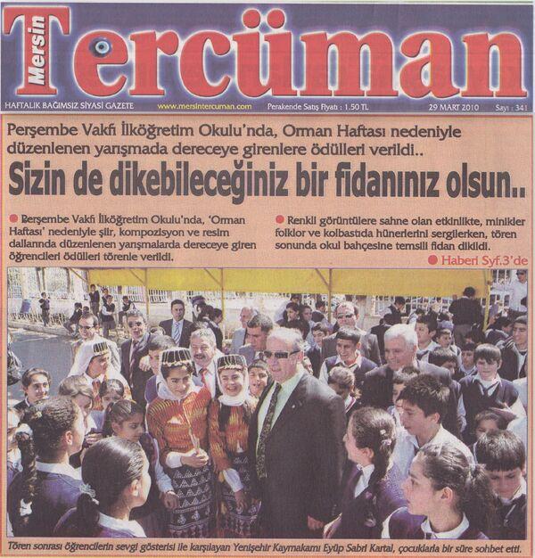 Mersin tercüman gazetesi 30 mart 2010.....