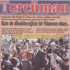 Mersin Tercüman gazetesi haberi 30 Mart 2010