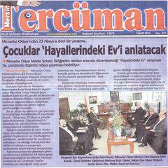 1 Mart 2010 Mersin Tercüman Gazetesi haberi