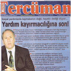 Mersin Tercüman Gazetesi 14 Aralık 2009 <a class=