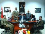 THK Mersin Sportif Havacılık Kulübü Başkanı, Başkan yardımcısı ve Yönetim Kurulu üyeleri Kaymakam Kartal'ı makamında ziyaret ettiler.