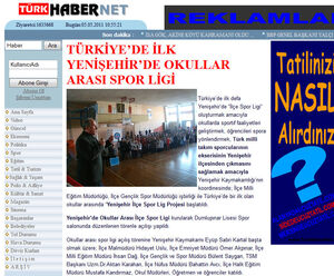 Okullararası Spor ligi açılışı haberi.