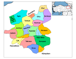 Erzurum districts