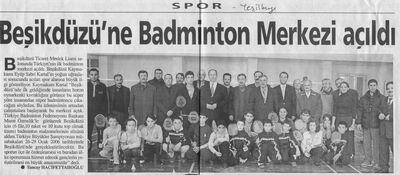 Beşikdüzünde badminton merkezi açıldı.