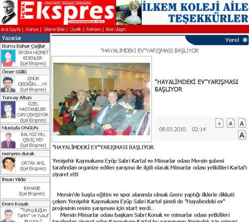 Içel expres 8 mart 2010