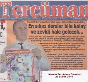 Akıllı tahta mersin tercüman gazetesi haberi