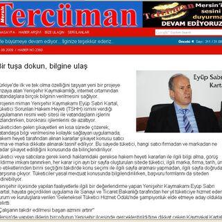 Mersin Tercüman gazetesi  1.9.2009