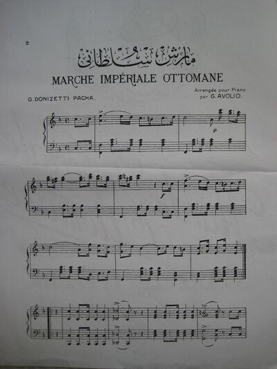 Osmanlı milli marşı notaları