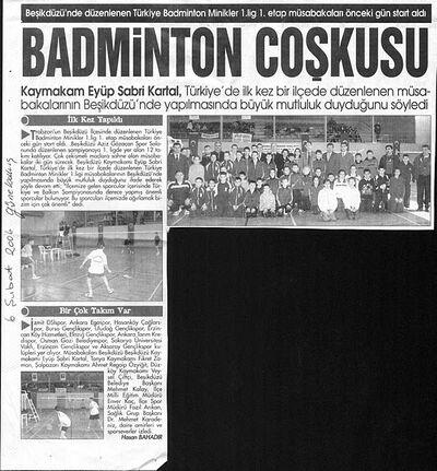 Beşikdüzü badminton coşkusu