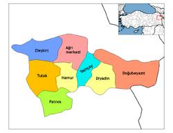 Ağrı districts