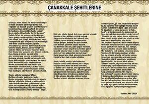 CANAKKALE SEHİTLERİNE