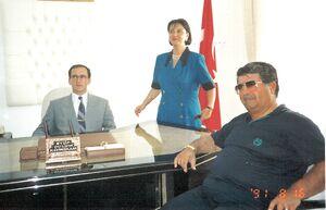 Kaymakam Eyüp Sabri Kartalın ilk göreve başlama günü ve Cumhurbaşkanı Halil Turgut Özal
