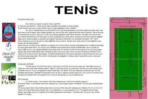 Tenis broşür ön sayfa