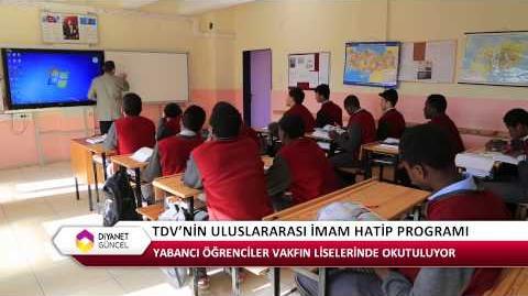 TDV Uluslararası İmam Hatip Lisesi Programı