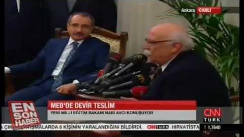 Milli Eğitim Bakanı değişti! Ömer Dinçer Nabi Avcı Devir Teslim Törenini İzleyin!