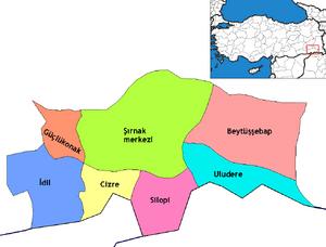 Şırnak districts