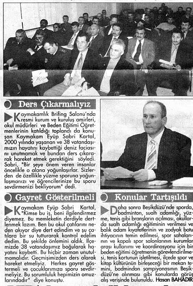 İlçe spor meclisi toplantı ayrıntı haberi