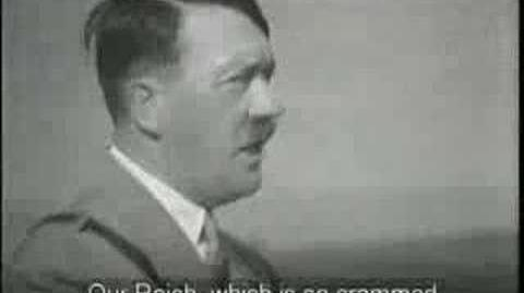 Adolf Hitler Expand Speech (English Subtitles)