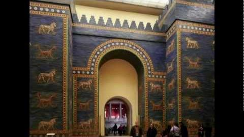 Ishtar Gate and Processional Way (reconstruction), Babylon, c. 575 B.C.E