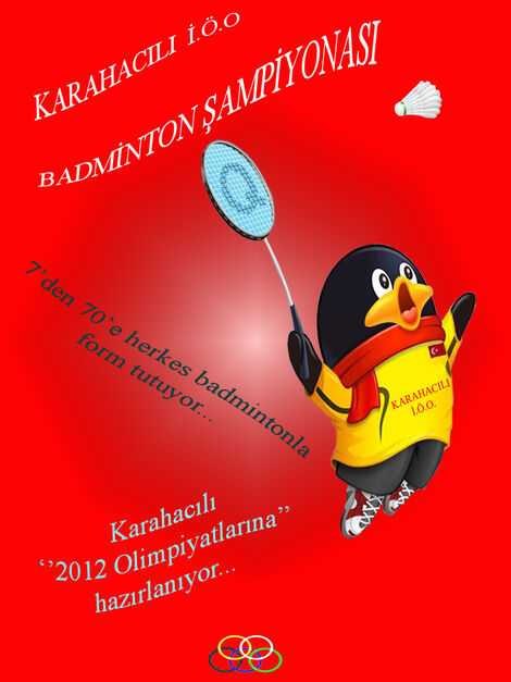 Badminton afiş
