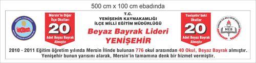 Yenişehir beyaz bayrak alan okullar afişi