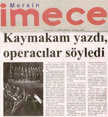 İmece gazetesi 16 Mart 2011..