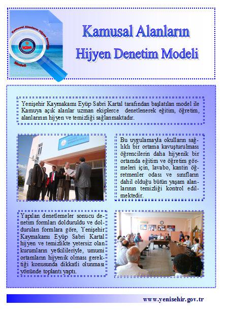 Kamusal Alanların Hijyen Denetim Modeli sf 2