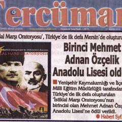 Mersin Tercüman Gazetesi 17 Mayıs 2010
