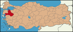 Latrans-Turkey location Balıkesir