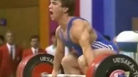 Frank Rothwell's Olympic Weightlifting History 1988 Naim Suleymanoglu Snatch