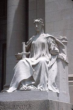 Batı kültüründe adaletin simgesi