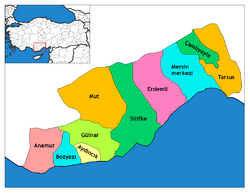 Mersin districts