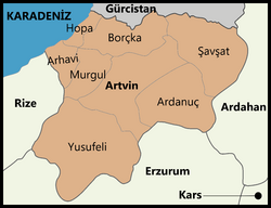 Artvin districts