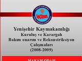 Yenişehir Hükümet Konağı Rekonsrtiksiyonu/A4