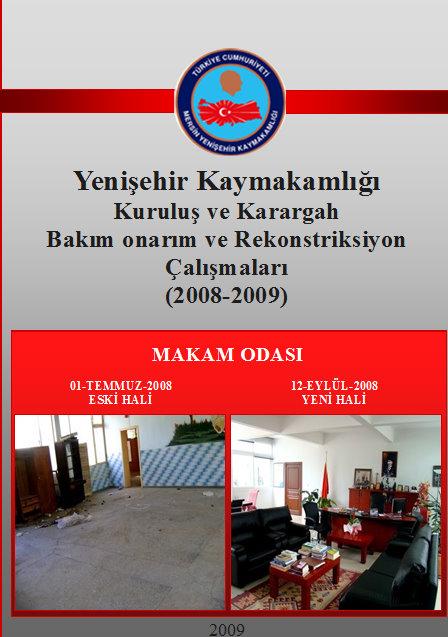 Yenişehir Kaymakamlığı bakım ve onarım çalışmaları kitapçık A-4 sf 1