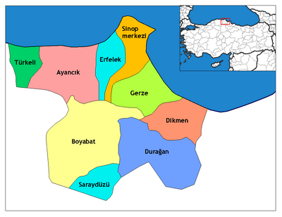 Sinop districts