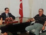 Nevşat Özer milletvekili orman genel müdürü Mersin Kavaklıdere kaymakamı Eyüp Sabri Kartal i makamında ziyareti20160430 131549