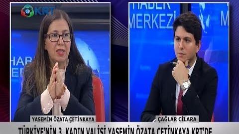 Vali Yasemin Özata Çetinkaya ilk kez KRT'de Çağlar Cilara'ya konuştu!
