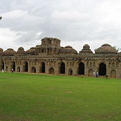 Gajashaala or elephant's stable in Vijayanagara, India, built during the reign of Vijayanagar Empire.[60]